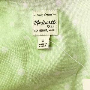 Madewell Tops - Madewell Polka Dot Boyshirt in Mint Green